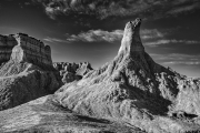 Badlands in B&W